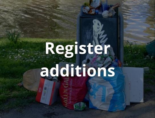 Register additions