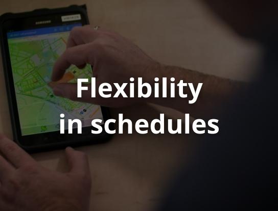Flexibility in schedules