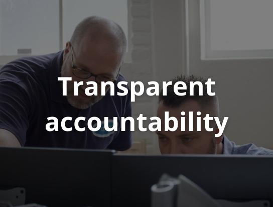 Transparent accountability